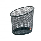 Portapenne Mesh - rete metallica - 10,5x7,3x10,3 cm - nero - Alba