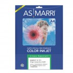 Carta transfer per tessuto scuro - stampa inkjet - A4 - bianco - As Marri - conf. 10 fogli