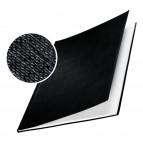 Copertine Impressbind - rigide - 17,5 mm - finitura lino - nero - Leitz - scatola 10 pezzi