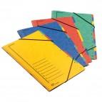Classificatore numerico 1/7 - 7 scomparti - con elastici - 24x34 cm - colori assortiti - Fraschini