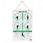 Cartello orario con catenella - acrilico - Lebez