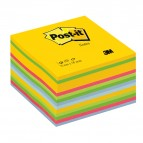 Blocco foglietti Cubo - 76 x 76mm - giallo neon, verde ultra, verde, rosa ultra, blu ultra, blu - 450 fogli - Post It