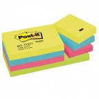 Blocco foglietti Colori Energy - colori assortiti - 38 x 51mm - 72gr - 100 fogli - Post It