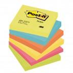 Blocco foglietti Colori Energy - colori assortiti - 76 x 76mm - 72gr - 100 fogli - Post It