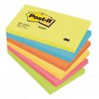 Blocco foglietti Colori Energy - colori assortiti - 76 x 127mm - 72gr - 100 fogli - Post It