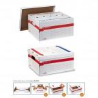 Scatola archivio Memory X File - con coperchio - dorso 27,5 cm - 37x27x52 cm - bianco - Sei Rota