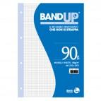 Ricambi BandUp forati rinforzati - A4 - quadretto 4mm - 40 fogli - 90gr - BM