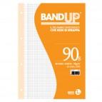 Ricambi BandUp forati rinforzati - A4 - quadretto 4mm con margine - 40 fogli - 90gr - BM