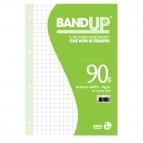Ricambi BandUp forati rinforzati - A4 - quadretto 10mm - 40 fogli - 90gr - BM