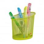 Portapenne Mesh - rete metallica - 10,5x7,3x10,3 cm - verde - Alba