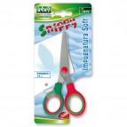 Forbici Snippy Soft - impugnatura plastica morbida - punta tonda - lama in acciaio - 13 cm - colori assortiti - Lebez