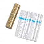 Blister portamonete - 10 cent - fascia blu - Iternet - sacchetto da 100 blister
