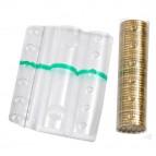 Blister portamonete - 50 cent - fascia verde - Iternet - sacchetto da 100 blister