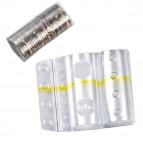 Blister portamonete - 1 euro - fascia gialla - Iternet - sacchetto da 100 blister