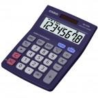 Calcolatrice da tavolo MS-8VERII - 31,7x103x145 mm - 8 cifre - plastica - blu - Casio