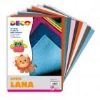 Panno lana - 20x30cm - colori assortiti - CWR - Conf.10 pezze