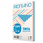 Carta Copy Tinta Multicolor - A3 - 80 gr - mix 5 colori forti - Fabriano - conf. 250 fogli