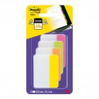 Segnapagina Post-it® Index Strong - per archivio - 50,8x38,1 mm - rosa/lime/arancio/giallo - Post-it - conf. 24 pz