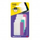 Segnapagina Post-it® Index Strong - per archivio - 50,8x38,1 mm - rosa/bianco/turchese/viola - Post-it - conf. 24 pz