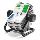 Portabiglietti da visita Visifix® Rotary - 400 posti - 19,5x19x12 cm - nero - Durable