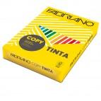 Carta Copy Tinta - A4 - 160 gr - colori forti giallo - Fabriano - conf. 250 fogli