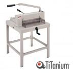 Taglierina a leva alti spessori  3941 - 1070x680x740 mm - 430 mm (A3) - capacità taglio 500 fg - con blocca lama - grigio - Titanium