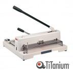 Taglierina a leva alti spessori 3943 - 265x450x475 mm - 370 mm (A3) - capacità taglio 150 fg - con blocca lama - grigio -Titanium