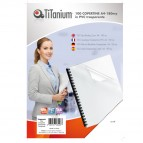 Copertine rilegatura - A4 - 180 micron - PVC - neutro trasparente - Titanium - scatola 100 pezzi