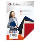 Copertine rilegatura - A3 - 250 gr - cartoncino goffrato - rosso - Titanium - scatola 100 pezzi