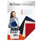 Copertine rilegatura - A3 - 250 gr - cartoncino goffrato - nero - Titanium - scatola 100 pezzi