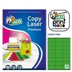 Etichetta adesiva LP4C - permanente - 70x36 mm - 24 etichette per foglio - verde opaco - Tico - conf. 70 fogli A4