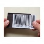 Portaetichette magnetico - 40x100 mm - grigio - Markin - conf. 20 pezzi