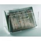 Portariviste da terra Mr Acrylic - 28x10x3,5 cm - trasparente - Tecnostyl