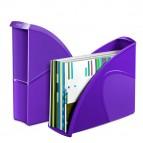 Portariviste CepPro Gloss - 26,5x31 cm - dorso 8 cm - viola - Cep
