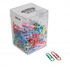 Fermagli colorati in scatola Gran Mix - plastificati (PVC) - 125 gr - colori e misure assortiti - Molho Leone