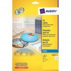 Etichette Full-Face CD Avery per stampanti Inkjet - bianco pat. opaco - 2 et/ff - J8676-25 (conf.25)
