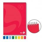 Blocco notes Color - spiralato lato corto - 5mm - 90gr - 50 fogli - BM