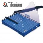 Taglierina a leva 3024 - B4 - 335x480x415 mm - 392 mm - capacità taglio 20 fg - con blocca lama - blu -Titanium
