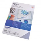 Copertine HiClear™ per rilegatura - A4 - 300 micron - trasparente - GBC - conf. 100 pezzi