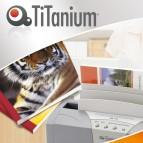 Cartelline termiche Grain - 12 mm - bianco - Titanium - scatola 50 pezzi