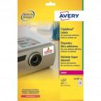 Etichette poliestere Super Aderenti per stampa Laser Avery - 45,7x25,4 mm - 40 - L6140-20 (conf.20)