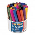 Pennarelli Jumbo - punta ø7,6mm - colori assortiti - Primo - secchiello 36 pezzi