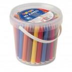 Pennarelli Jumbo - punta ø7,6mm - colori assortiti - Primo - secchiello 60 pezzi