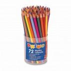 Matite colorate - mina 2,90mm  - 12 colori - Primo - Bicchiere 72 matite