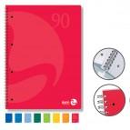 Quaderno Colors - A5 - quadretto 4mm - 60 fogli - 90gr - 4 fori microperforato - spiralato - BM