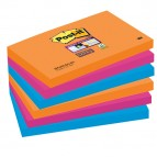 Blocco foglietti Post It Super Sticky - colore Bangkok - 76 x 127mm - 90 fogli - Post It