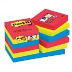 Blocco foglietti Post It Super Sticky - colore Bora Bora - 47,6 x 47,6mm - 90 fogli - Post It