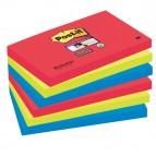 Blocco foglietti Post It Super Sticky - colore Bora Bora - 76 x 127mm - 90 fogli - Post It