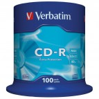 CD Verbatim - CD-R - 700 Mb - 52x - Extra Protection - Spindle - 43411 (conf.100)