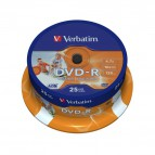 DVD-R Verbatim 4,7 Gb - 16x - Printable - Spindle - 43538 (conf.25)